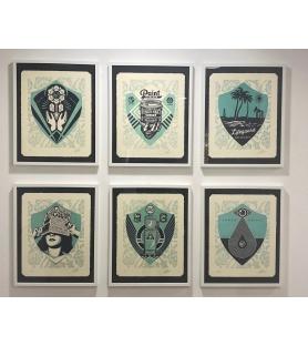 Shepard Fairey (Obey) – Earth Crisis Paris - 6 Letterpress signées num. 450ex - 44x34