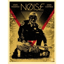 Litho.Online Shepard Fairey - Noise state violence state control