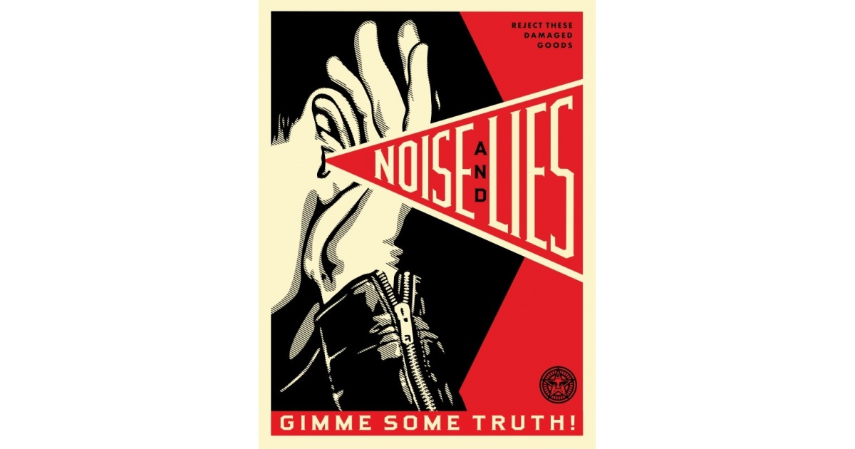 Litho.Online Shepard Fairey - Noise lies red