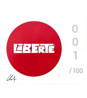 Litho.Online Clet - Liberté - Autocollant signé et numéroté -13x16cm