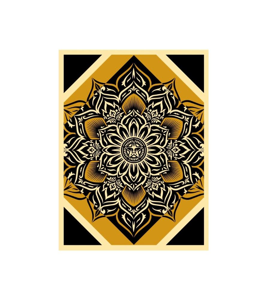 Litho.Online Shepard Fairey - Lotus Diamond Gold