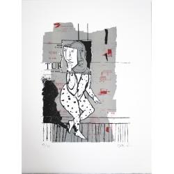 René Botti - Série Figure -Lithgraphie signée et numérotée- 51x37