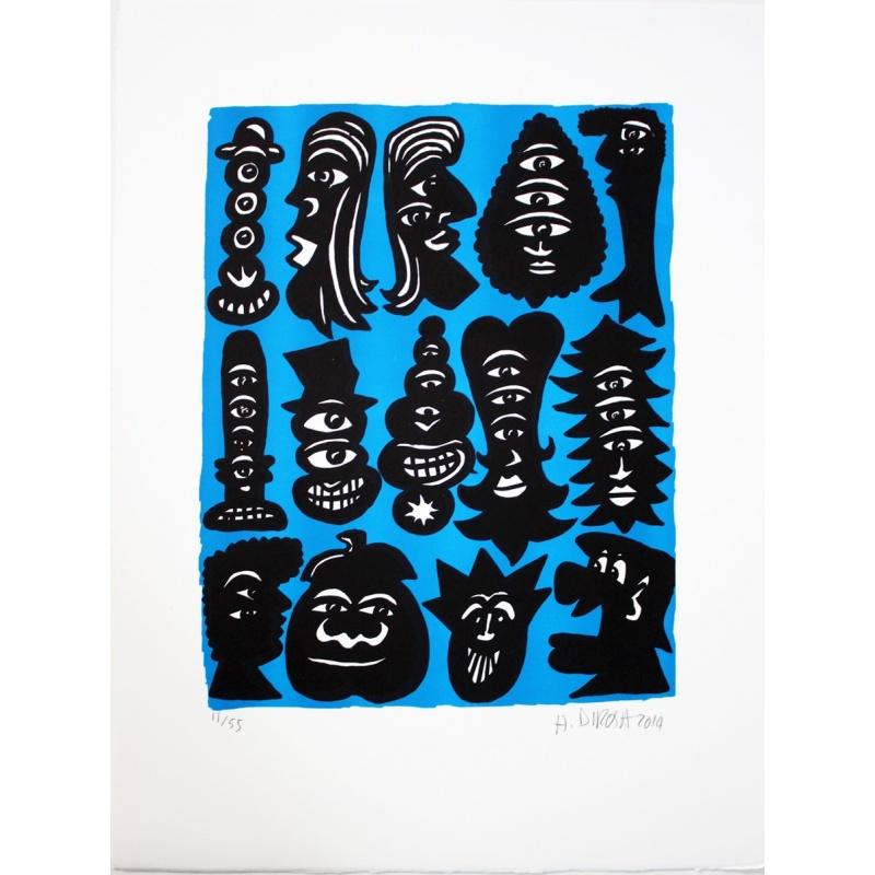 Litho.Online Hervé Di Rosa - Figure Bleue