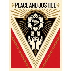 Litho.Online Shepard Fairey - Peace and Justice