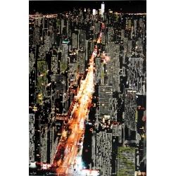 Gottfried Salzmann - NY by Night - Photeauforte signée et numérotée sur 50 ex - 60x40 cm - 2015