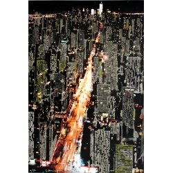 Litho.Online Gottfried Salzmann - NY by Night