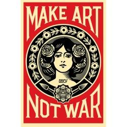 Litho.Online Shepard Fairey - Make Art Not War