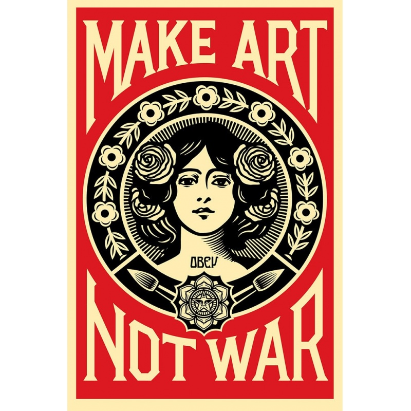 Litho.Online Shepard Fairey - Make Art Not War