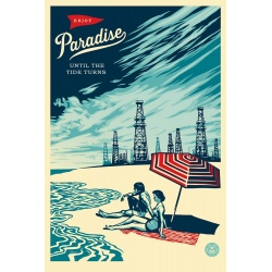 Obey (Shepard Fairey) - Paradise Turns - Poster signé - Format 91x61cm - 2017