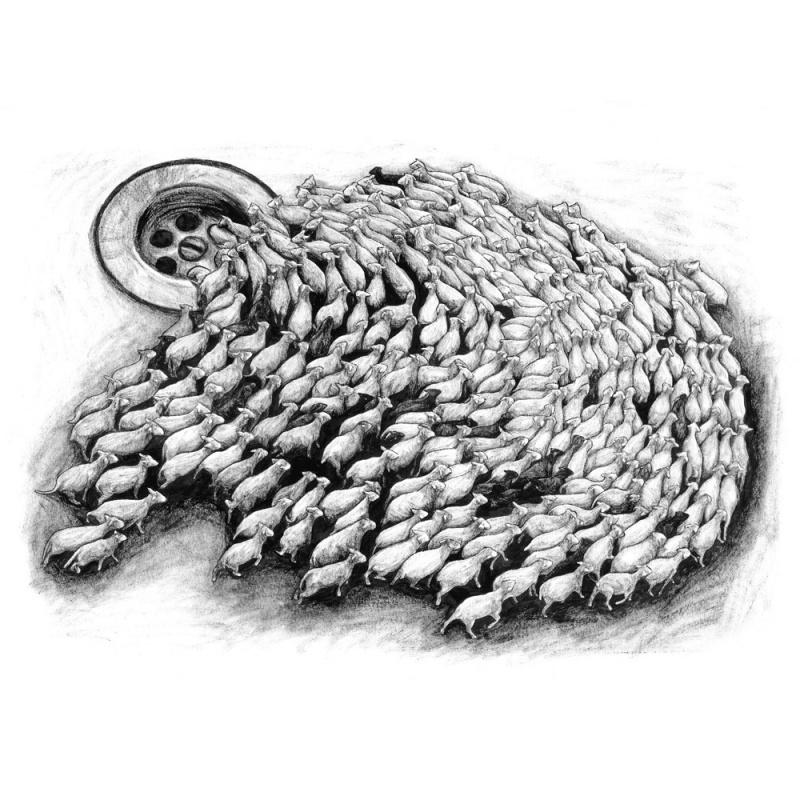 Levalet - Sheep - digigraphie signée/numérotée 33ex - 60x80 cm - 2017