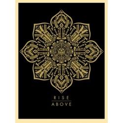Shepard Fairey (Obey) - Rise Above - 2015 - Sérigraphie signée et numérotée sur 350 exemplaires - 61 x 46 cm