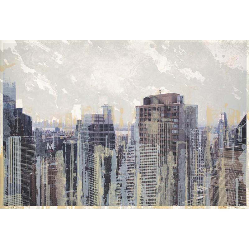 Gottfried Salzmann - New-York M -  Lithographie numérotée 18 sur 30 ex - 52x77cm