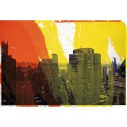 Gottfried Salzmann - New-York M -  Lithographie EA sur 30 ex - 52x77cm