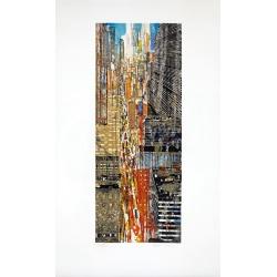 Gottfried Salzmann - 5th Avenue - Lithographie numérotée 33 sur 60 exemplaires - 76x45cm
