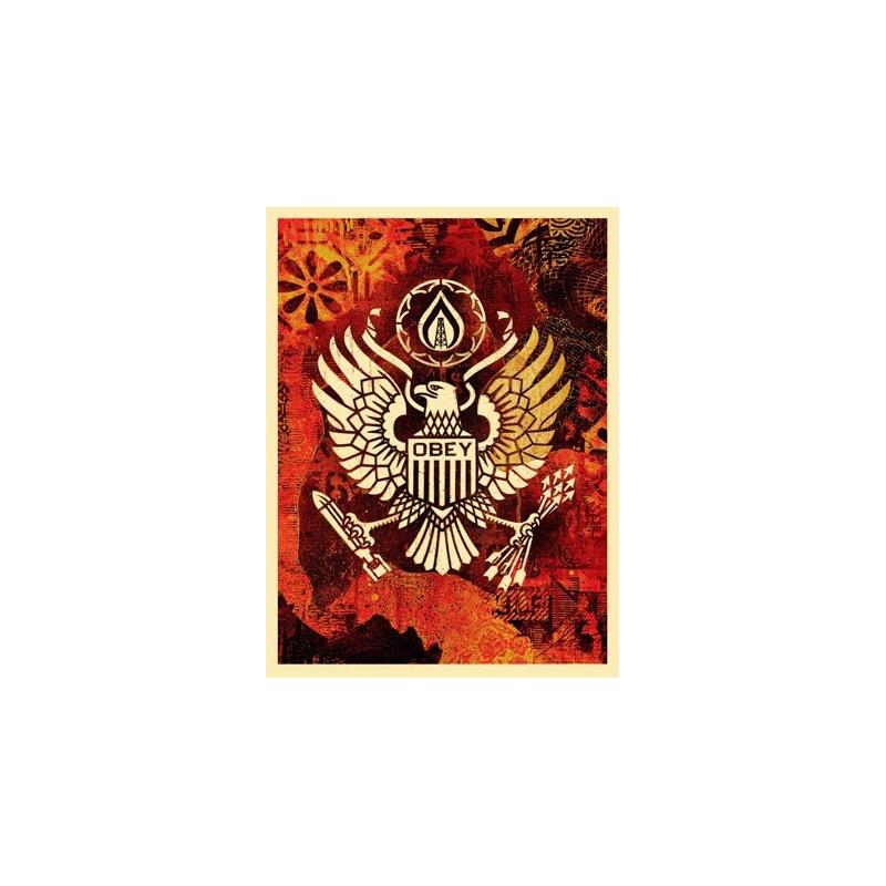 Shepard Fairey (Obey)- Keep it Underground - Sérigr signée numérotée 450 ex - 61x46 cm - 2015