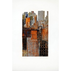 Litho.Online Gottfried Salzmann - New-York découpé