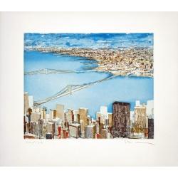 Gottfried Salzmann - The Bridges - Lithographie numérotée 102 sur 150 exemplaires - 38x43cm