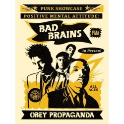 Litho.Online Shepard Fairey - Bad Brain Punk Showcase