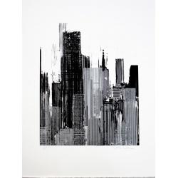 Gottfried Salzmann - Série Figure - Litho signée et numérotée - 51x37