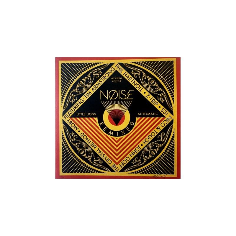 Shepard Fairey (Obey) - Noise Project - 2016 - Sérigraphie et vinyles - signée et numérotée sur 500 exemplaires - 31 x 31 cm