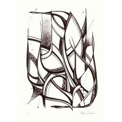 Romain Froquet - Cinnamon- Lithographie - édition multiple sur 20 exemplaires - Papier Rivoli 240g