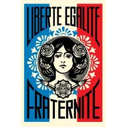 Litho.Online Shepard Fairey - Liberté - Égalité - Fraternité
