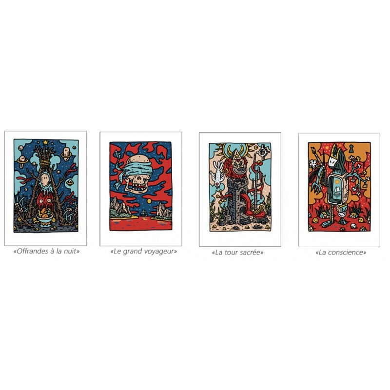 Litho.Online Pack Speedy Graphito - 4 estampes